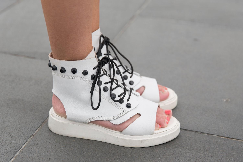 white shoe sandals