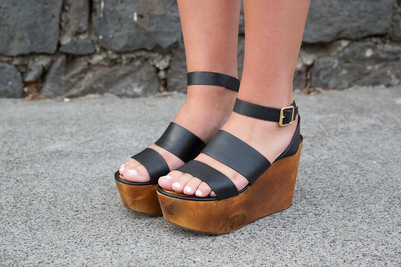 Wild Pair wooden platform shoes
