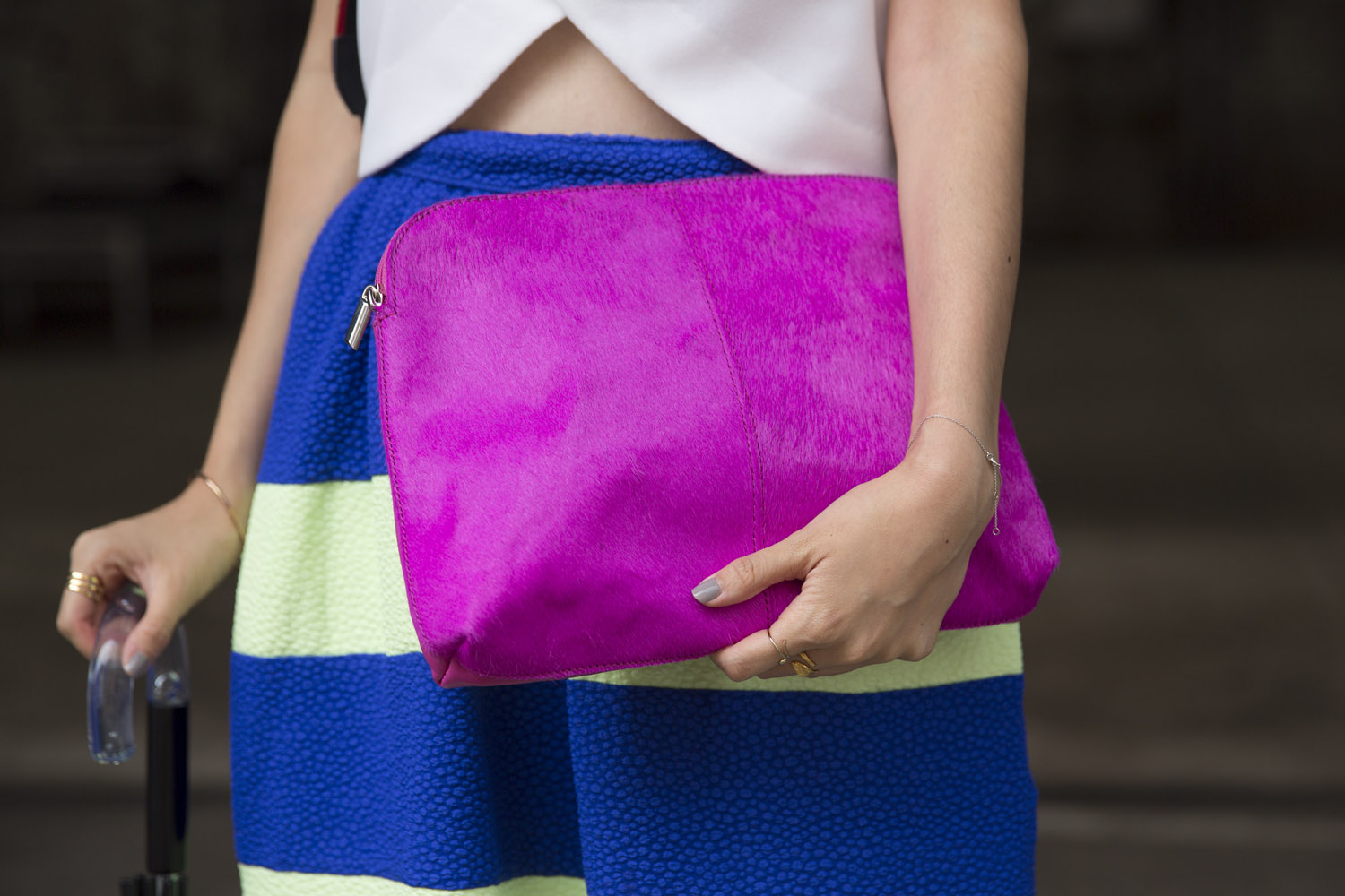 pink clutch from asks