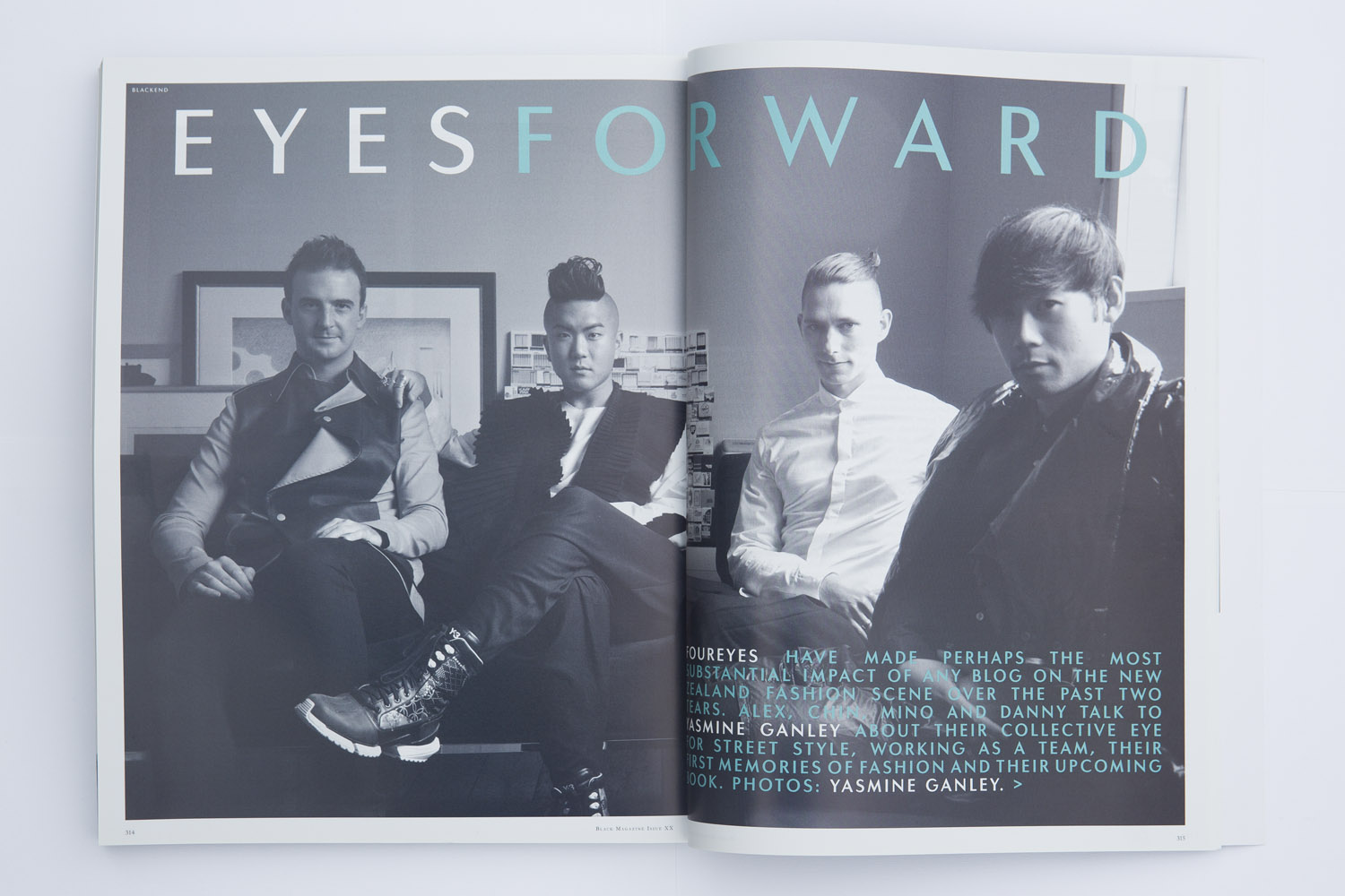 Foureyes feature in Black Magazine