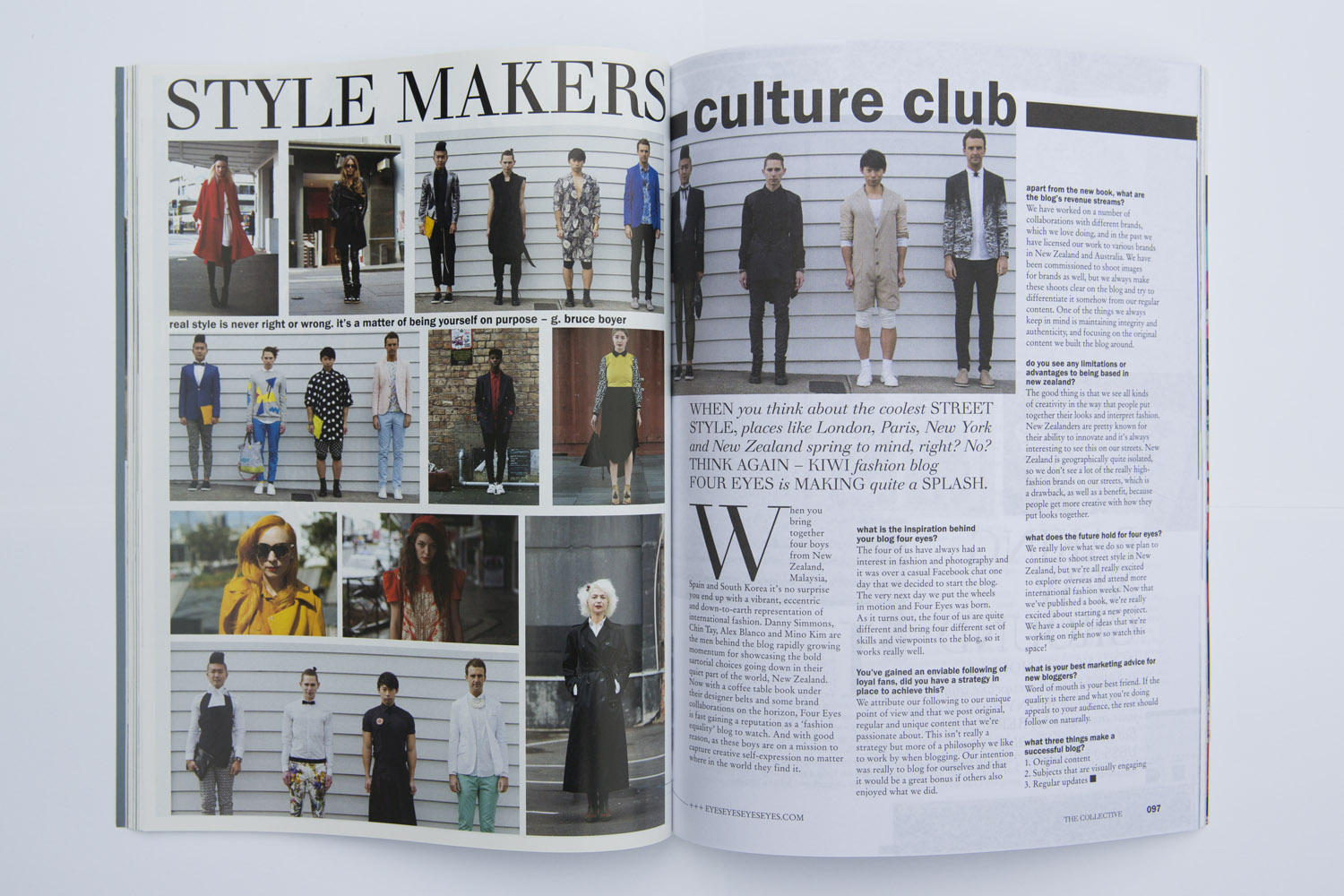 Foureyes feature in Renegade Collective magazine