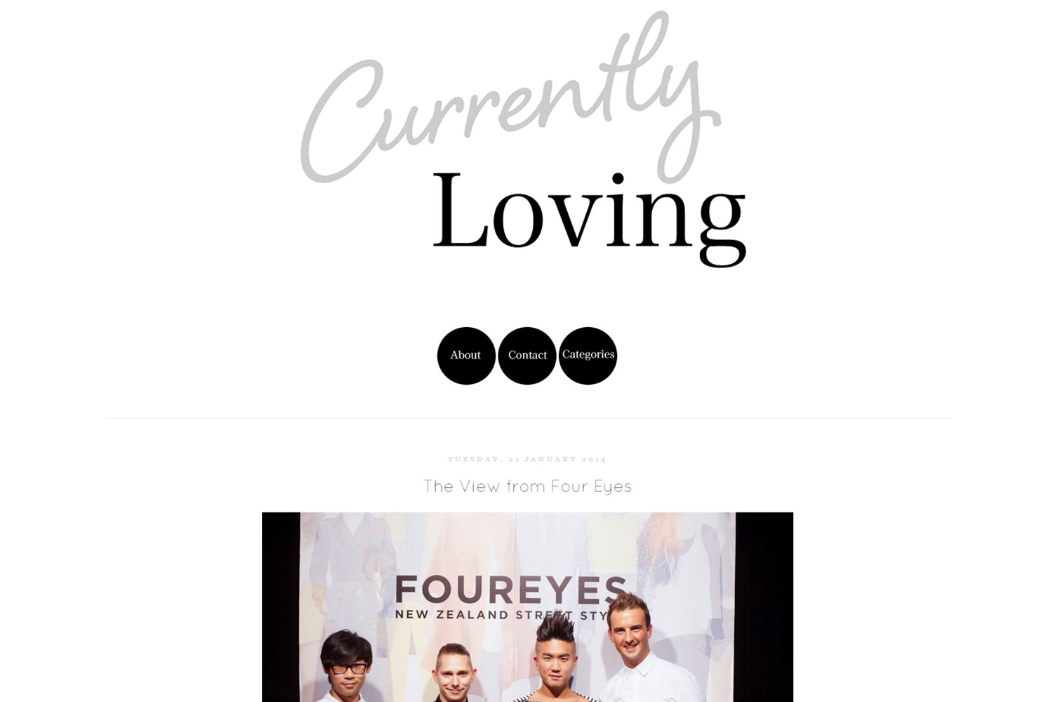 FOUREYES feature in Currently Loving Blog