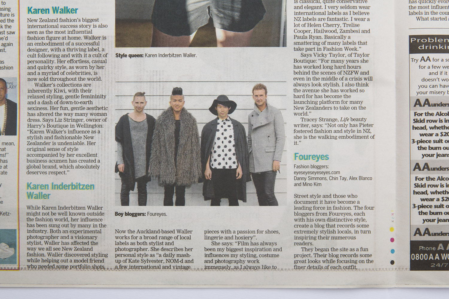Foureyes feature in Dominion Post Newspaper