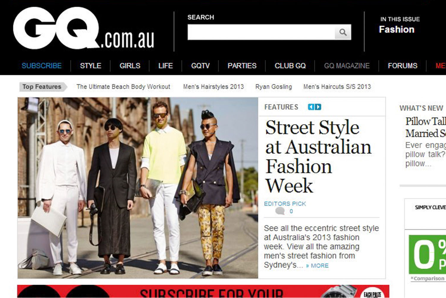 FOUREYES feature in GQ.com.au