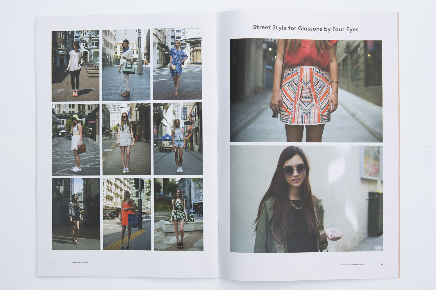 FOUREYES photographed streetstyle for Glassons