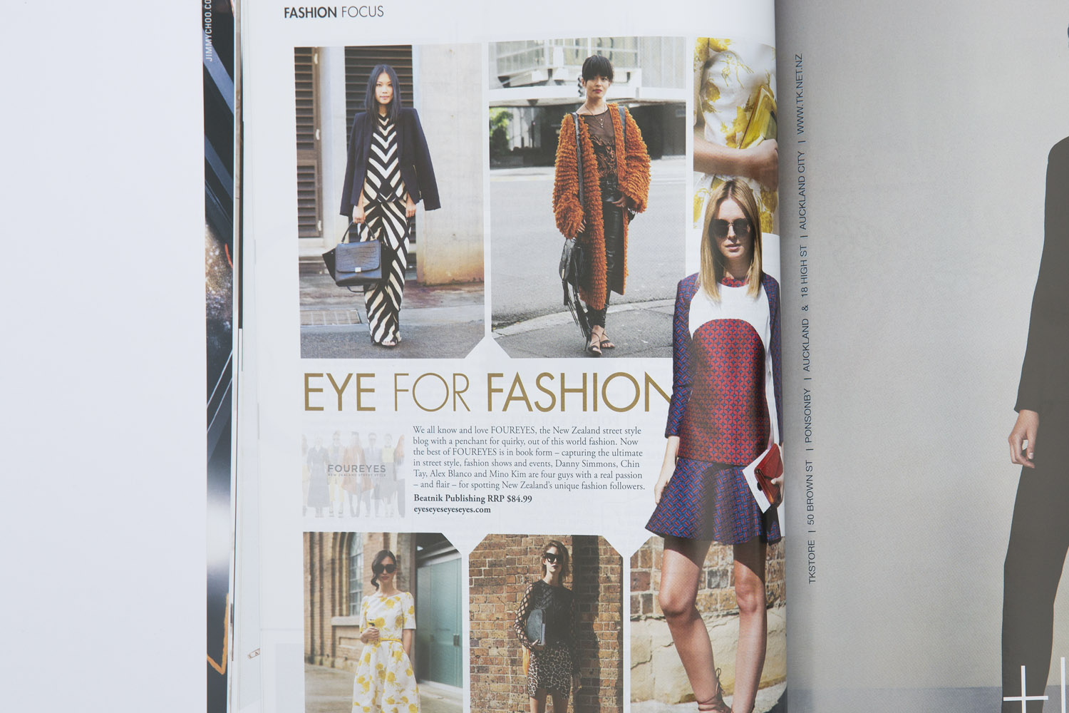 Foureyes in M2Woman magazine