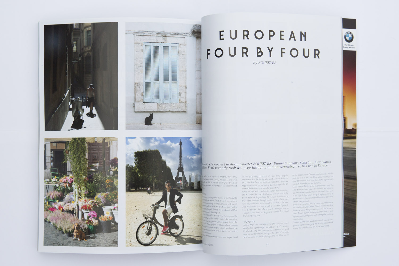 FOUREYES travel feature in Remix Magazine.
