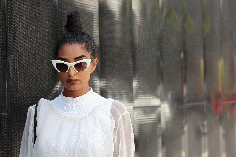 miu mii white sunglasses