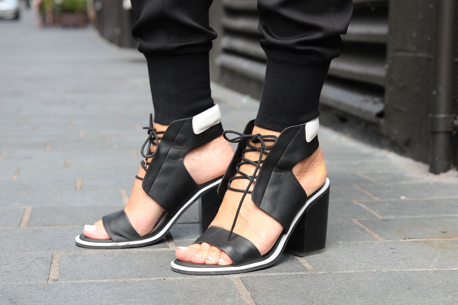 Black and white senso shoes