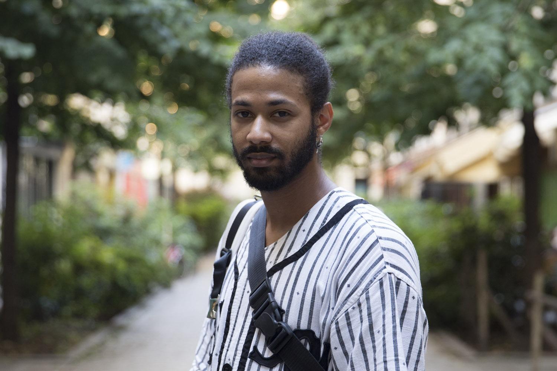 Vincent wears kaftan by KTZ.