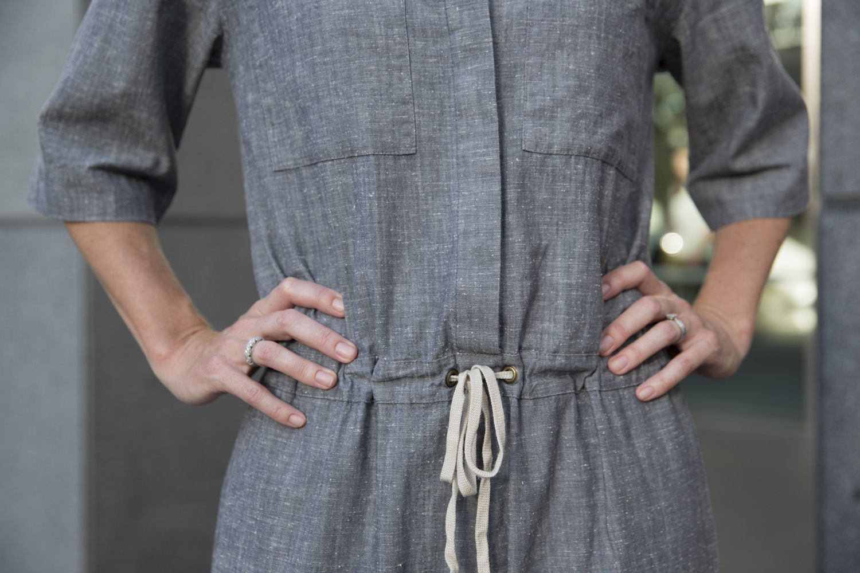 Anna wears jumpsuit by Juliette Hogan.