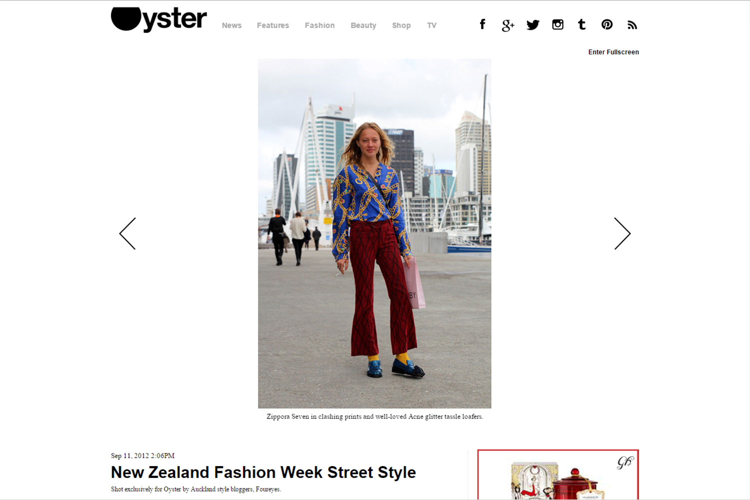 FOUREYES streetstyle photographs featured in Oyster